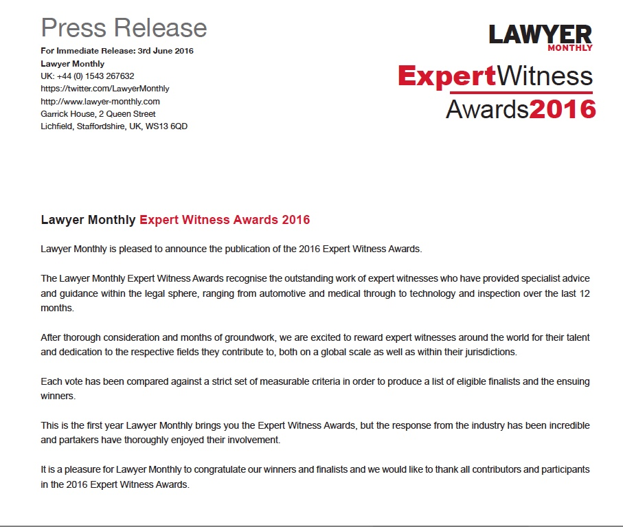 Expert-Witness - PressRelease